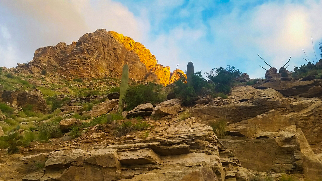 Mt Lemmon in the morning via Cell Phone