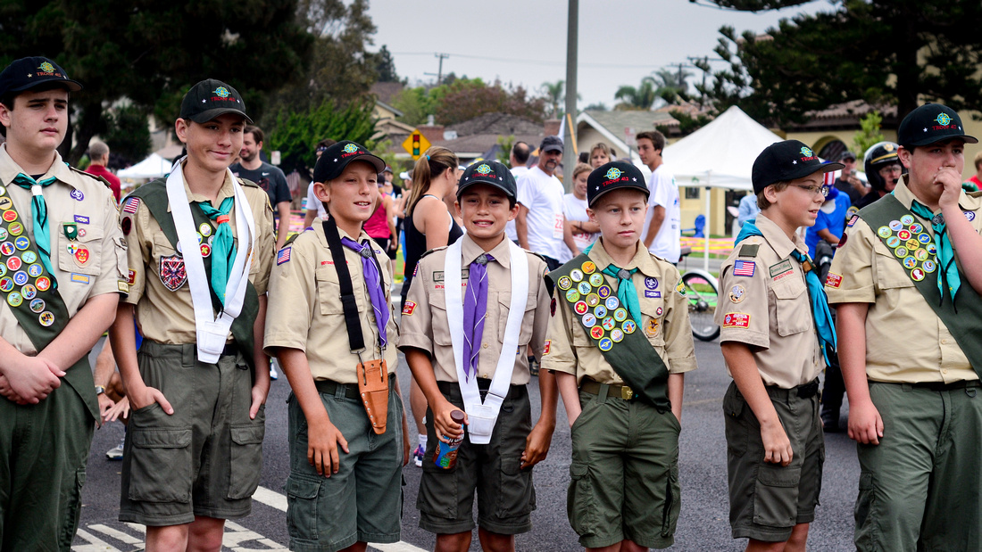 Boy Scout Troop in Huntington Beach, California