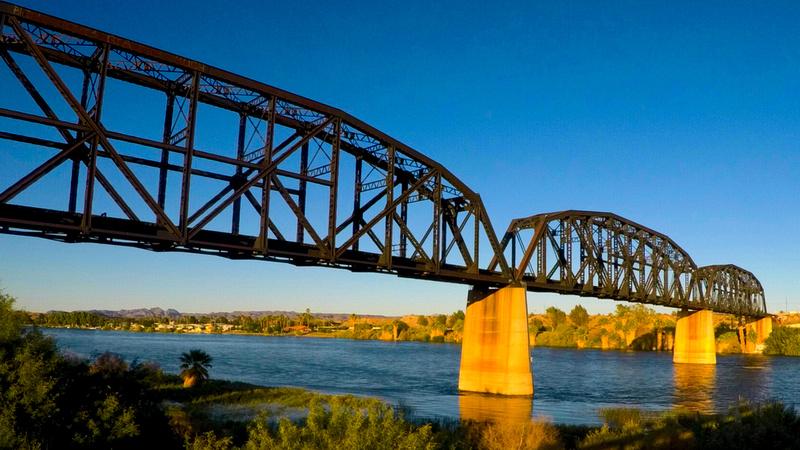 Railroad bridge near Parker, Arizona